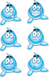 Smiles drops of water Royalty Free Stock Photos