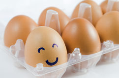Smiles eggs Royalty Free Stock Photography