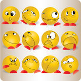 Smiles emotions cartoon. Smiles, emotions  and character cartoon-symbol Stock Image