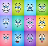 Smiles with emotions on colored background Royalty Free Stock Image