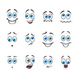 Smiles with emotions Stock Images