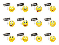 Smiles emotions with plates Royalty Free Stock Photos