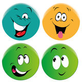 Smiles. Four different faces with different colors and different smiles Stock Image