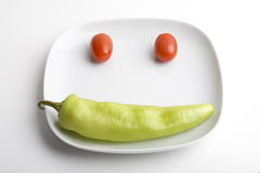 Smiles healthy food Stock Images