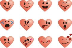 Smiles heart Royalty Free Stock Images