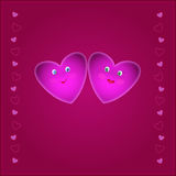 Smiles hearts Stock Images