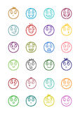 24 smiles icons set 2 Stock Photo