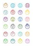 24 smiles icons set 2 Stock Photo