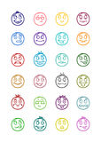24 smiles icons set 7 Royalty Free Stock Image