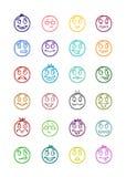24 smiles icons set 7 Royalty Free Stock Image