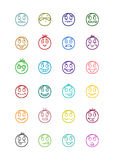 24 smiles icons set 5 Royalty Free Stock Images