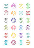 24 smiles icons set 4 Royalty Free Stock Photo