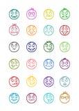 24 smiles icons set 4 Royalty Free Stock Photo