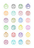 24 smiles icons set 6 Royalty Free Stock Photography