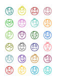 24 smiles icons set 9 Stock Photos