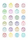 24 smiles icons set 9 Stock Photos