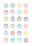 24 smiles icons set 1 Stock Photography