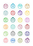 24 smiles icons set 3 Stock Images