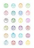 24 smiles icons set 10 Stock Photos