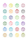24 smiles icons set 8 Royalty Free Stock Image