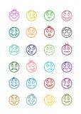 24 smiles icons set 8 Royalty Free Stock Image