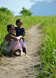 Smiles from the Island of Maiga, Semporna. Royalty Free Stock Photos
