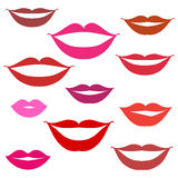 Smiles, lips background Royalty Free Stock Image
