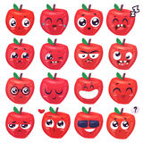 Smiles set of fruit characters. Vector cute cartoons Stock Photo