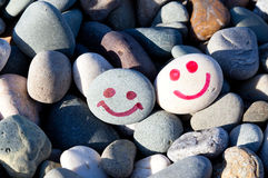 Smiles on the stones Royalty Free Stock Photography