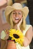 smiles sunflower Στοκ εικόνα με δικαίωμα ελεύθερης χρήσης