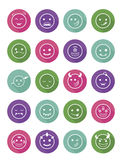 Smiles vampires icons colored set Stock Image