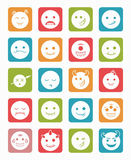 20 smiles vampires icons set square. 20 smiles vampires evil icons set in differents colors square stock illustration