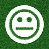 Smiley από τη χλόη Στοκ Εικόνες