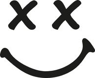 Smiley γέλιου με τα διασχισμένα μάτια ελεύθερη απεικόνιση δικαιώματος