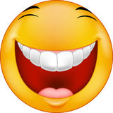 Smiley γέλιου κινούμενων σχεδίων Στοκ Φωτογραφία