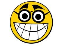 smiley εικονιδίων nerd Στοκ φωτογραφία με δικαίωμα ελεύθερης χρήσης
