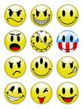 smiley κουμπιών διανυσματική απεικόνιση