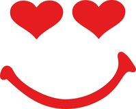 Smiley με τα μάτια καρδιών απεικόνιση αποθεμάτων