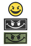 Smiley μπαλωμάτων, μπάλωμα smiley Στοκ εικόνες με δικαίωμα ελεύθερης χρήσης