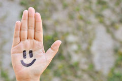 smiley χεριών Στοκ Φωτογραφίες