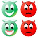 Smiley Анджела и дьявола Стоковая Фотография