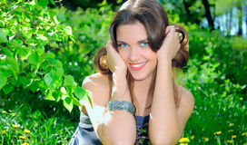 smiley девушки стоковое изображение