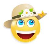 Smiley лета Стоковые Изображения