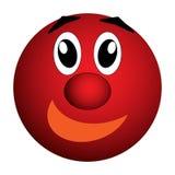 Smiley, жизнерадостные радостные глаза и улыбка иллюстрация штока