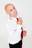 smiley красного цвета галстука бизнесмена Стоковая Фотография