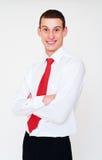 smiley красного цвета галстука бизнесмена Стоковое Изображение