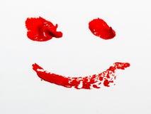 smiley красного цвета стороны Стоковые Фотографии RF