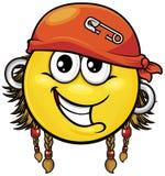 Smiley 01 пирата Стоковые Изображения RF