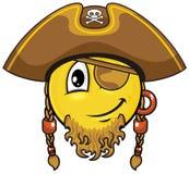 Smiley 03 пирата Стоковая Фотография