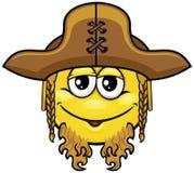 Smiley 08 пирата Стоковые Изображения RF
